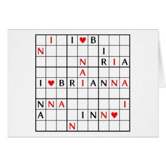 I♥BRIANNA カード