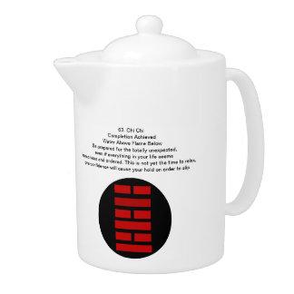 I Chingの茶ポットを始め、終えて下さい