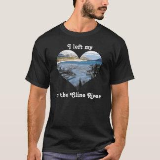 I Clineの川アルバータカナダの私のハートを残しました Tシャツ