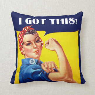 I GOT THIS Rosie the Riveter Pillow クッション