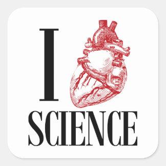 I heart science スクエアシール