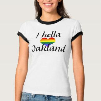I Hella愛オークランドの虹 Tシャツ