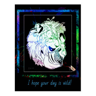 I hope your day is wild! Wildlife Postcard ポストカード