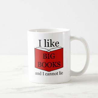 I Like Big Books コーヒーマグカップ