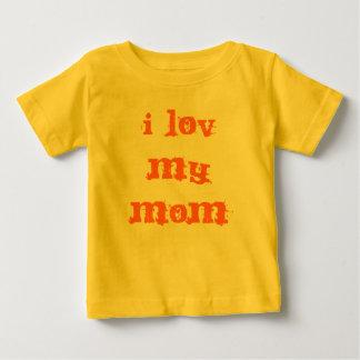 I lov私のお母さん ベビーTシャツ