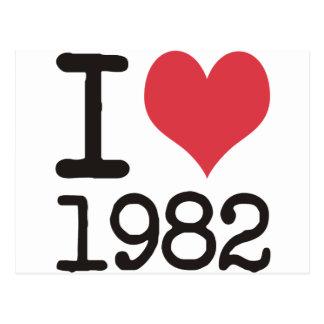 I Love1982プロダクト及びデザイン! ポストカード