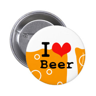 I Love Beer 缶バッジ