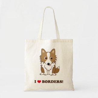 I LOVE BORDERS! 立ち耳レッドバージョン トートバッグ