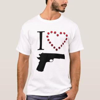 I LOVE GUN Tシャツ