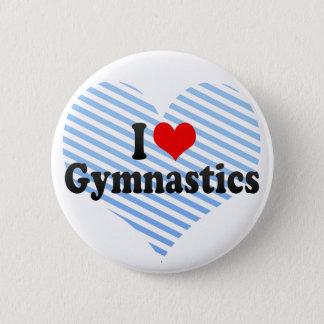I Love Gymnastics 5.7cm 丸型バッジ