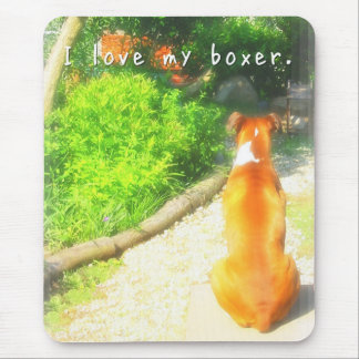 """""""I love my boxer"""" Mouse Pad マウスパッド"""