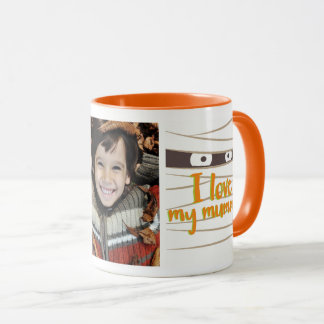 I Love my Mummy Halloween Photo Mug マグカップ