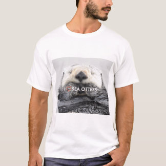 I LOVE SEA OTTERS Tシャツ