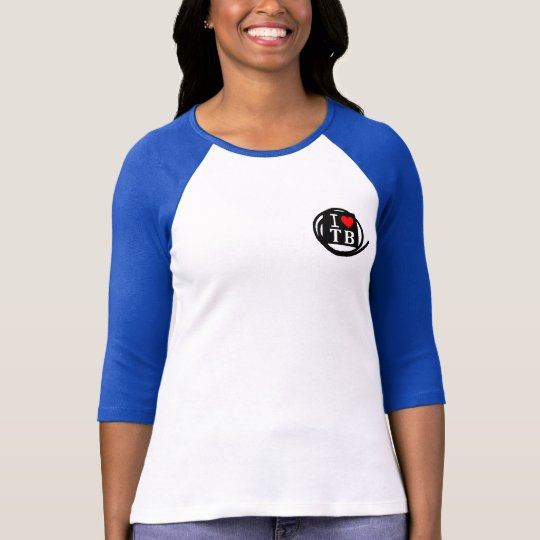 I LOVE TB Ladies 3/4 Sleeve Raglan Fitted (4 Color Tシャツ