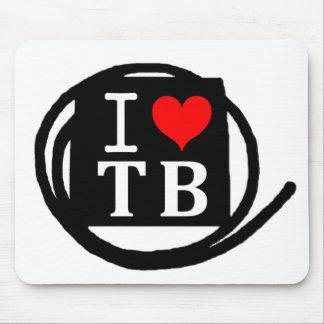 I LOVE TB Mousepads マウスパッド