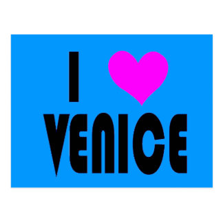I Love Venice Italy postcard ポストカード