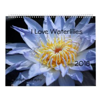 I LOVE WATERLILIES 2018 CALENDAR カレンダー