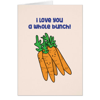 I love you a whole bunch - carrot love card カード