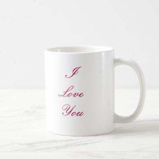 I LoveYouのマグは、と上がりました コーヒーマグカップ