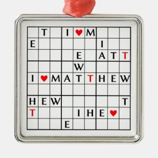 I♥MATTHEW メタルオーナメント