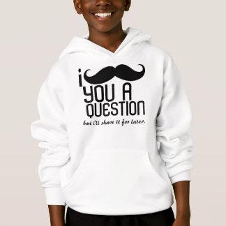 I mustache you a questionの子供のフード付きのスエットシャツ