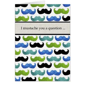 I mustache you a questionはです私の花婿介添人決定しますか。 カード