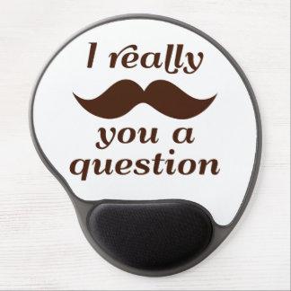 I MUSTACHE YOU A QUESTION ジェルマウスパッド