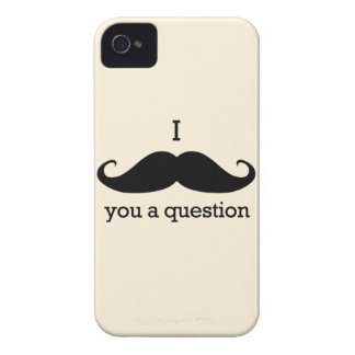 I MUSTACHE YOU A QUESTION Case-Mate iPhone 4 ケース