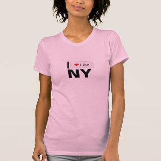 I NYのようなPinHeartまたは Tシャツ