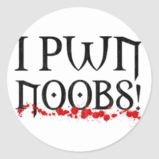 I pwnのnoobs ラウンドシール