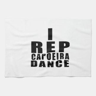 I REP CAPOEIRAのダンスのデザイン キッチンタオル