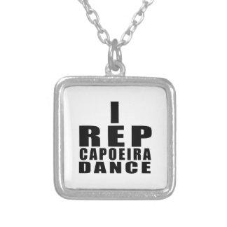 I REP CAPOEIRAのダンスのデザイン シルバープレートネックレス