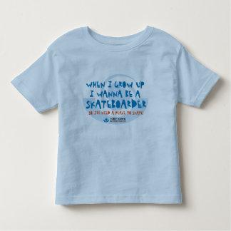 I Wannはスケートボーダー- THF -ティーです トドラーTシャツ