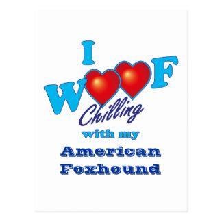 I WoofのアメリカFoxhound ポストカード