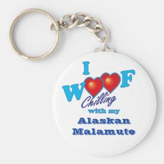 I Woofのアラスカンマラミュート キーホルダー