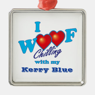 I Woofのケリーの青 メタルオーナメント
