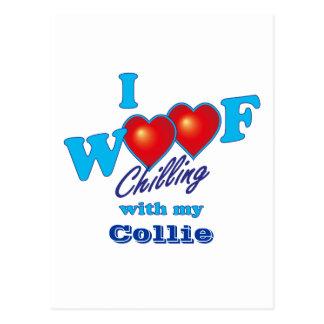 I Woofのコリー ポストカード