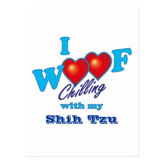 I Woofのシーズー(犬) Tzu ポストカード