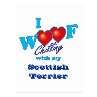 I Woofのスコットランド人テリア ポストカード