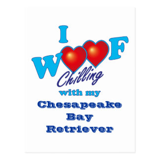 I Woofのチェサピーク・ベイ・レトリーバー ポストカード