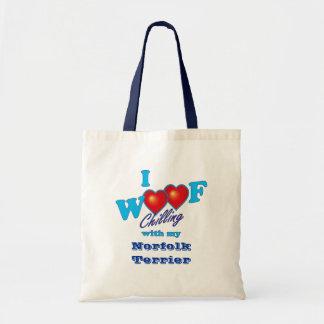 I Woofのノーフォークテリア トートバッグ