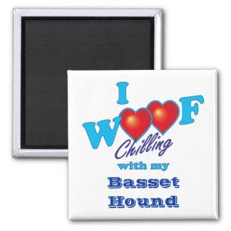 I Woofのバセットハウンド マグネット
