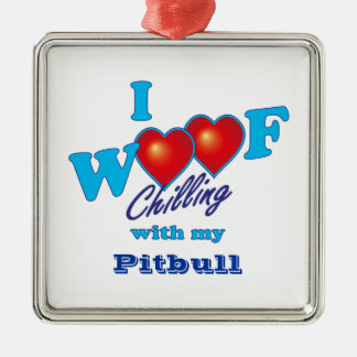 I Woofのピットブル メタルオーナメント