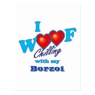 I Woofのボルゾイ ポストカード