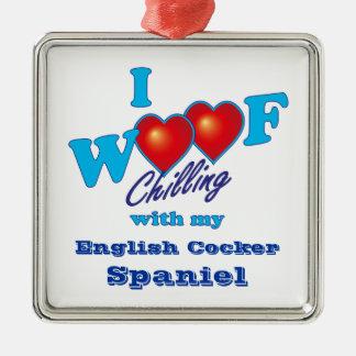 I Woofの英国のコッカースパニエル メタルオーナメント