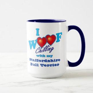I Woofの(犬)スタッフォードのブルテリア マグカップ