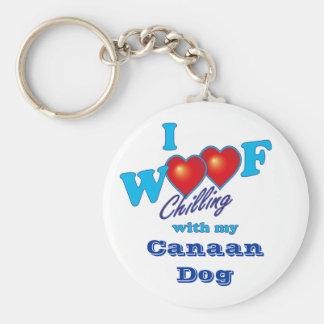 I WoofのCanaan犬 キーホルダー