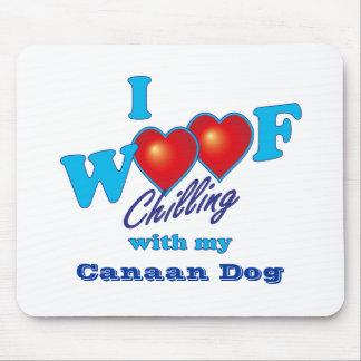 I WoofのCanaan犬 マウスパッド
