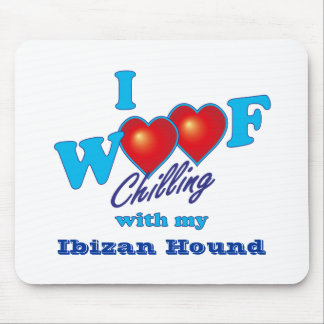 I WoofのIbizan猟犬 マウスパッド