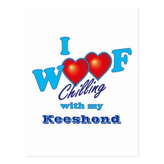 I WoofのKeeshond ポストカード